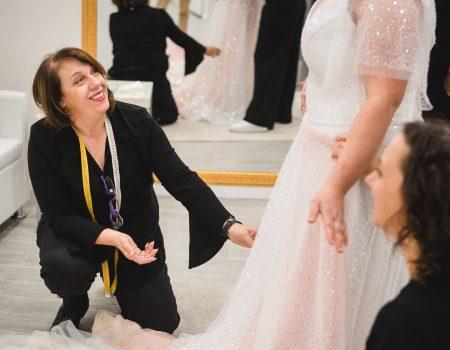 Da chi farsi accompagnare nella scelta dell'abito da sposa